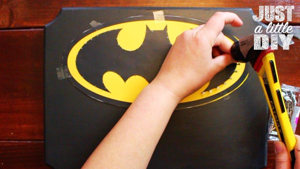Batman Nursery Sign hammer