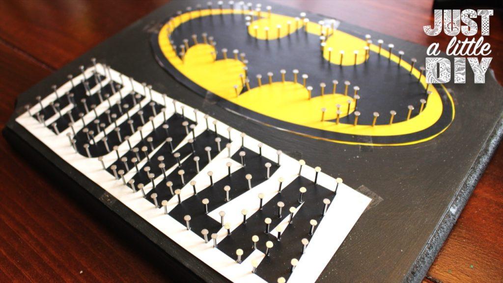 Batman Nursery Sign nails