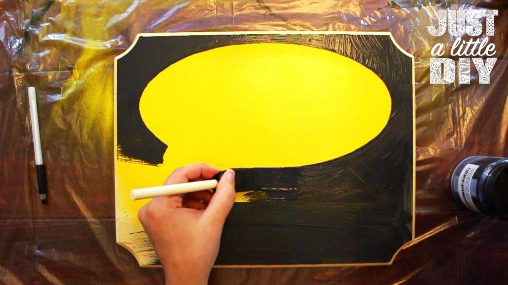 Batman Nursery Sign paint