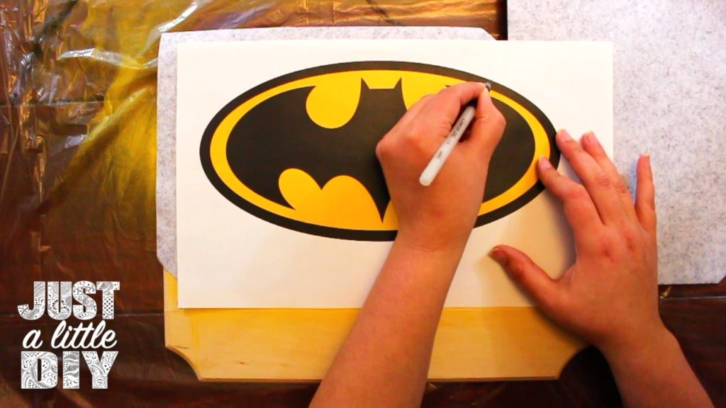 Batman Nursery Sign trace