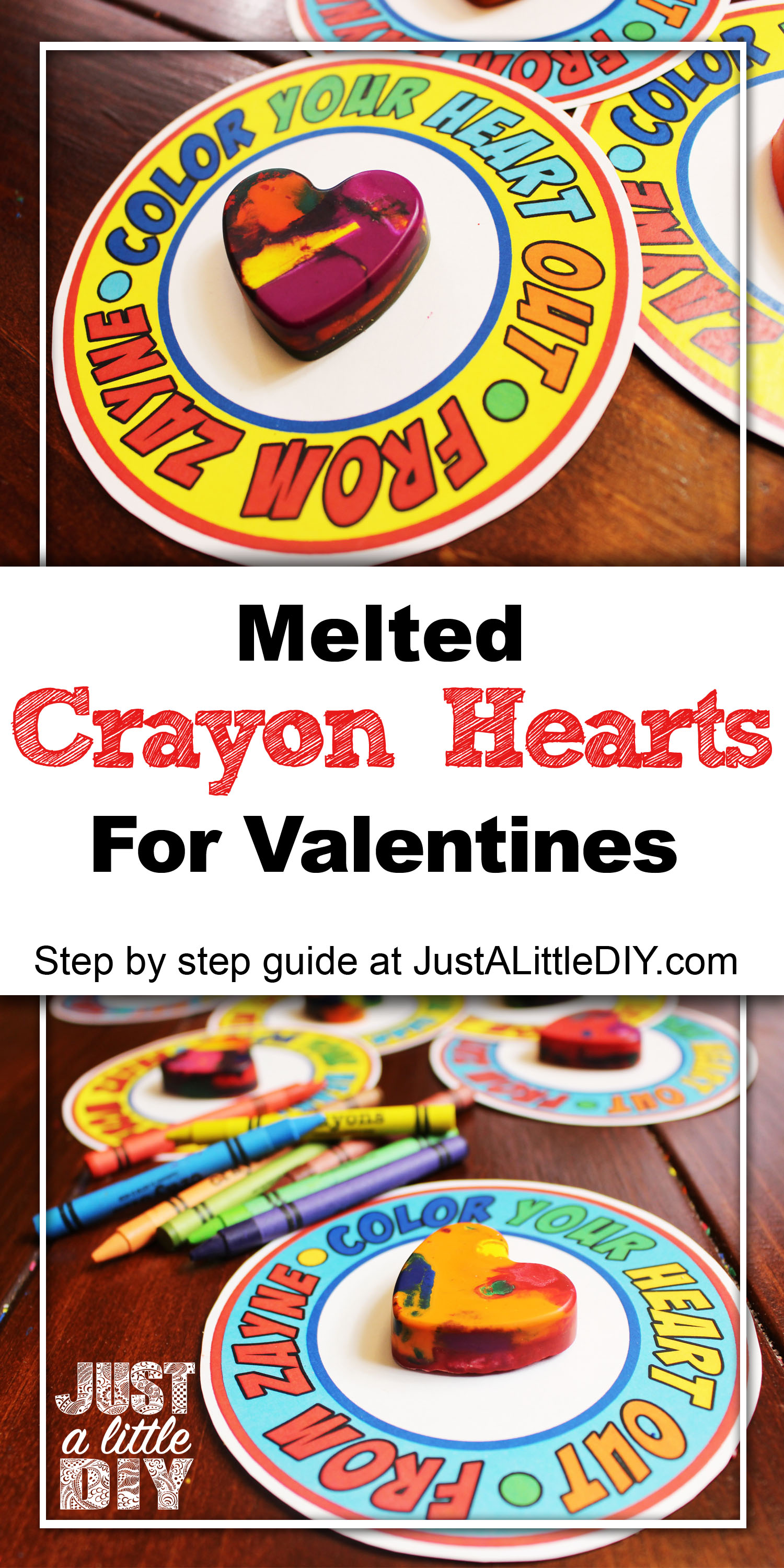 DIY Melted Crayon Heart
