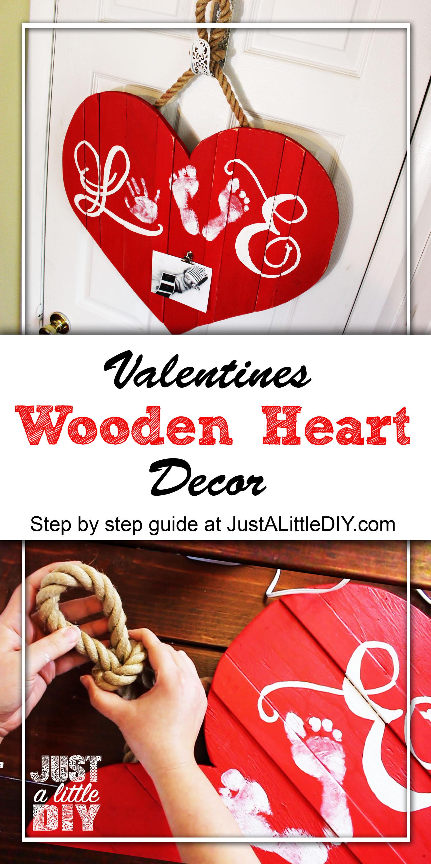 Valentines Wooden Heart