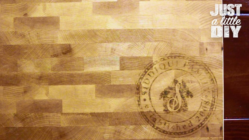 Wood Burned Cutting Board transfer
