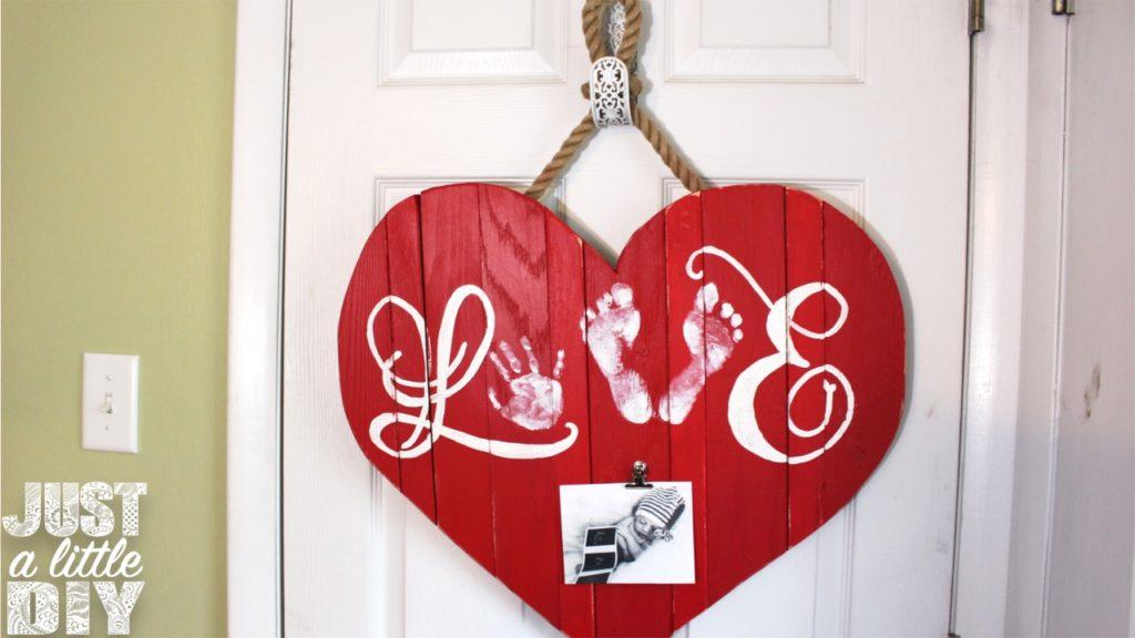Wooden Heart Decor Door