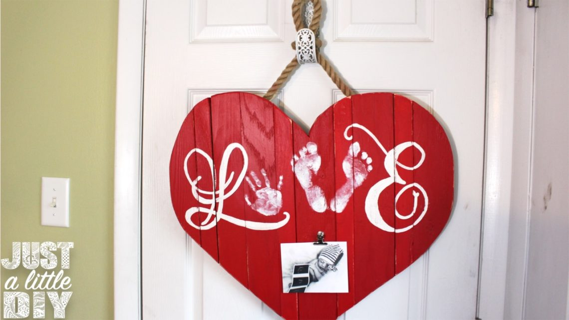 DIY Wooden Heart Decor for Valentines