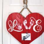 Wooden Heart Decor Door